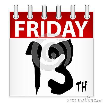 Friday 13th Calendar Icon