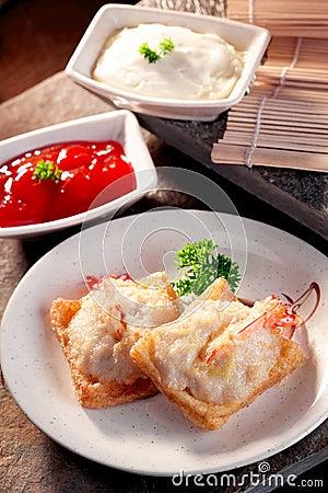 Fried baked prawn