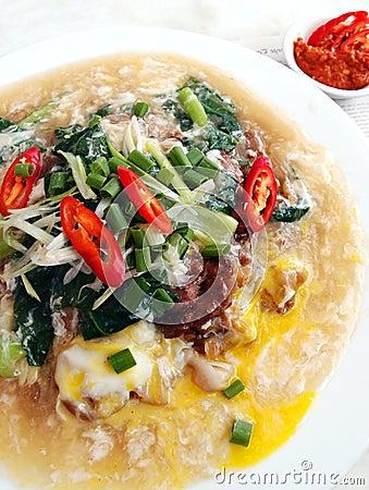 Fried beef hor fun, asian street food