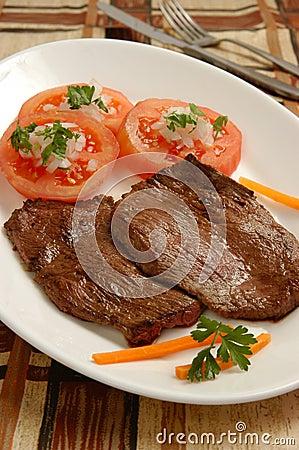 Fried beef meat