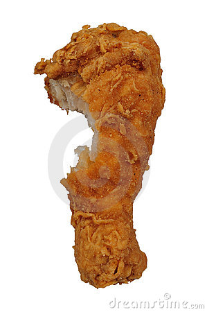 Fried Chicken leg with bite