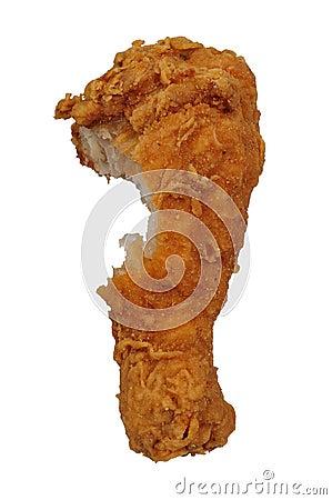 Fried Chicken leg with bite