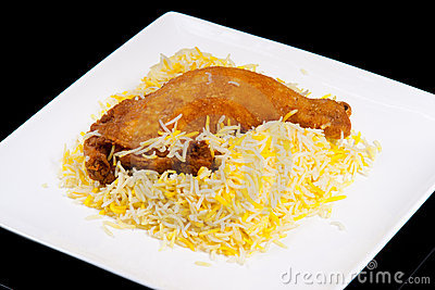 Fried chicken Leg with rice