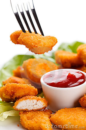 Free Fried Chicken Nuggets Royalty Free Stock Images - 19229279