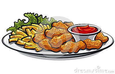 Chicken Nuggets Clip Art Fried-chicken-nuggets-fries-sauce-29785951 ...