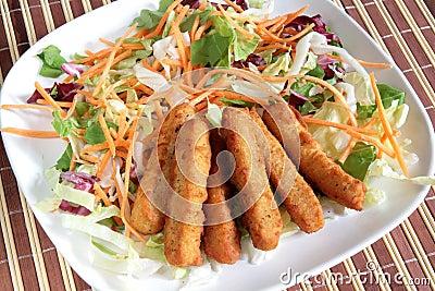 Fried chicken sticks
