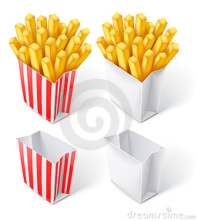 Fried chips in paper bag