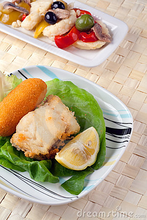 Fried Cob and Rinforzo Salad