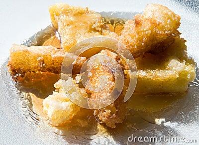 Fried corn meal mush