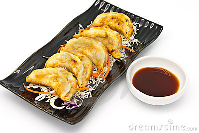 Fried Dumplings Chinese Style Cuisine