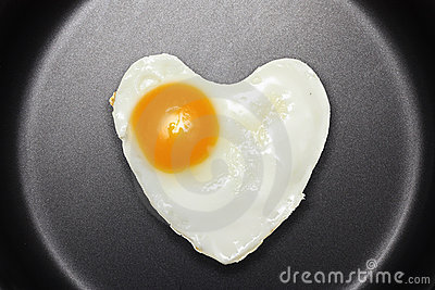 Fried egg like heart