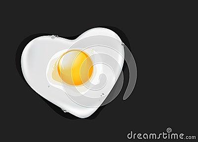Fried egg like heart
