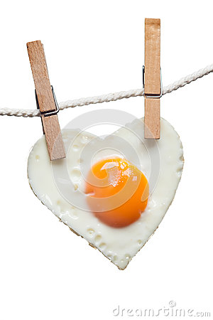 Free Fried Egg Love Heart Royalty Free Stock Photos - 28933708