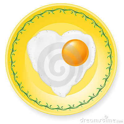 Fried egg on plate