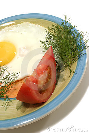 Fried egg and vegetable