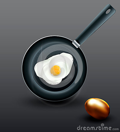 fried eggs and golden egg