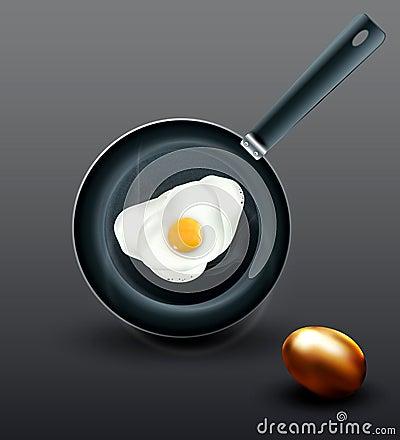 fried eggs and golden egg