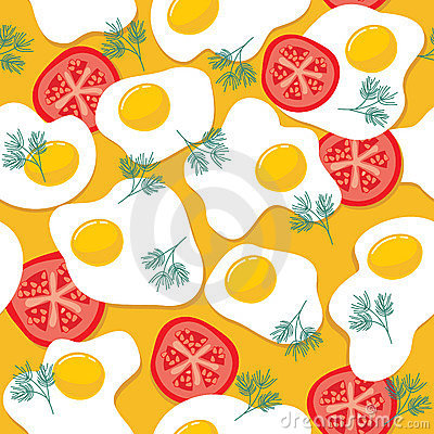 Fried eggs pattern