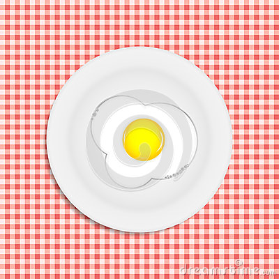 Fried eggs vector illustration
