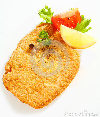 Free Fried Escalope Of Veal With Lemon Royalty Free Stock Photo - 35171055