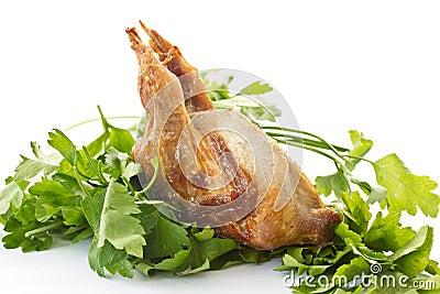 Fried female quail