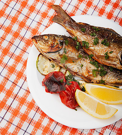 Free Fried Fish Stock Photography - 21422222