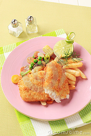 Free Fried Fish And French Fries Royalty Free Stock Images - 19840579