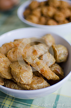 Fried fish and shrimp ball