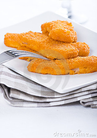 Fried fish sticks.