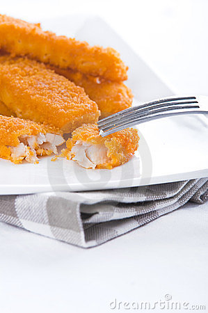 Free Fried Fish Sticks. Royalty Free Stock Photos - 23890808