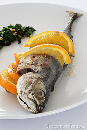 Fried Mackerel with salsa verde