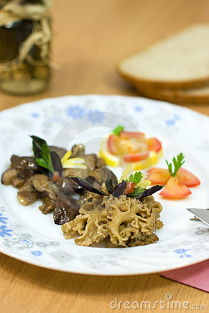 Fried morel mushroom