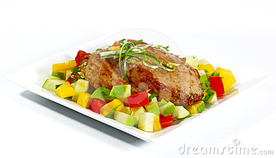 Fried Pork and Salad