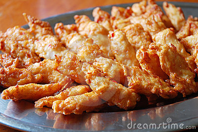 Fried prawn nuggets