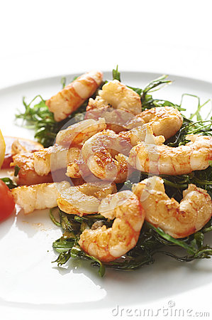 Fried prawns