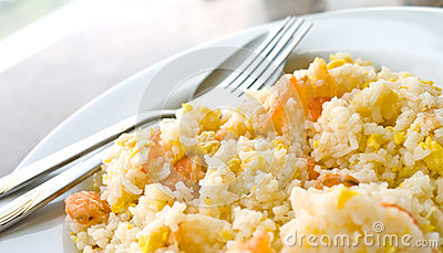 Fried rice with dried shrimp