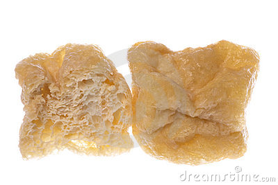 Fried Spongy Beancurd Cubes Isolated