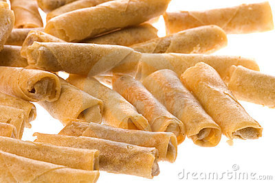 Fried Spring Rolls Isolated