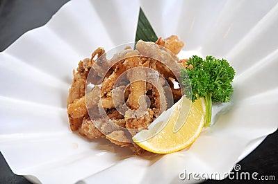 Fried squid strip