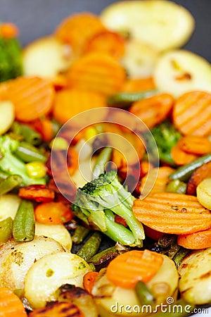 Fried vegetables macro