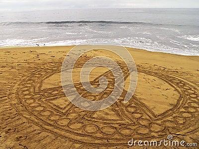 Frieden auf dem Strand