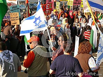 Frieden März Santa Clara Kalifornien Redaktionelles Foto
