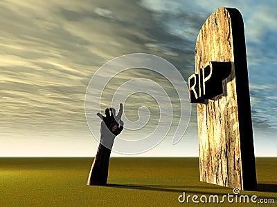 Friedhof-Hand 21