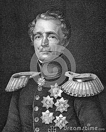 Friedrich Graf von Wrangel Editorial Stock Image