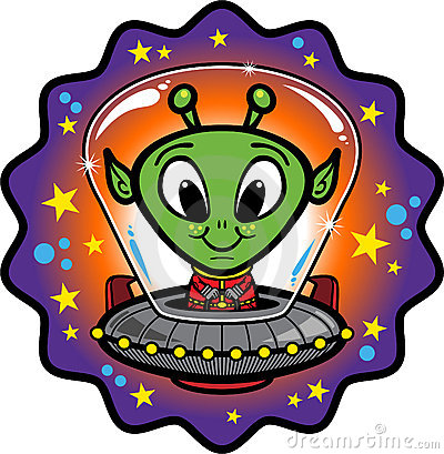 Friendly Alien In UFO