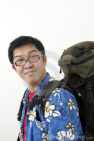Free Friendly Asian Backpacker Royalty Free Stock Images - 5185949
