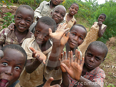 Friendly Burundi Kids Editorial Photo