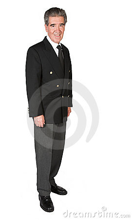 Friendly business man - full body