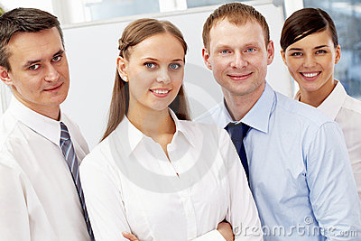 Friendly business team