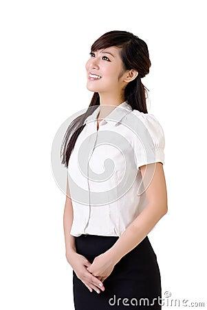 Friendly business woman